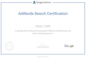 Nigel Carr - Google Certification