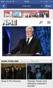 NME - Intrusive Interstitial Ads